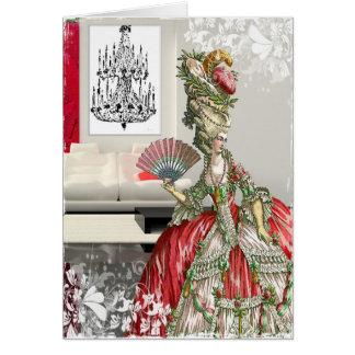 Visita de Marie Antoinettes Cartão De Nota