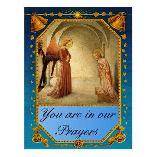 Visita do anjo Gabriel Cartão Postal
