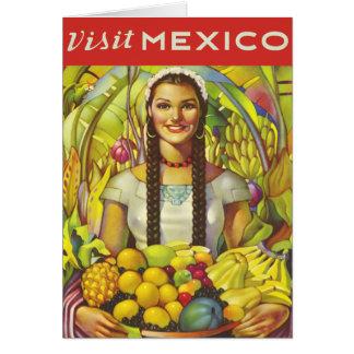Visita México Cartão Comemorativo