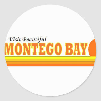 Visita Montego Bay bonito Adesivo Redondo