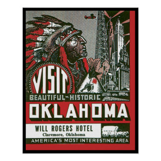 Visita Oklahoma histórico bonito Poster
