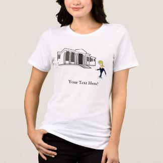 VISITA VIRGEM da CASA BRANCA do TRUNFO do t-shirt
