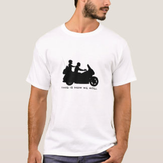 Visitando o t-shirt da motocicleta