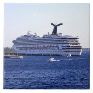 Visitante do navio de cruzeiros de Cozumel Azulejo Quadrado Grande