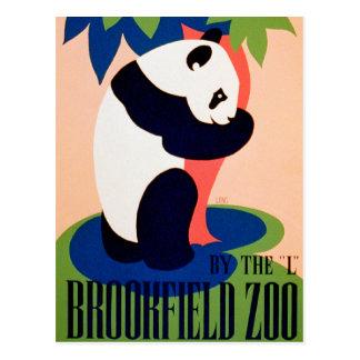 Visite o jardim zoológico!! cartão postal
