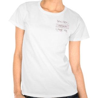 Visões da borboleta no rosa e no malva t-shirt