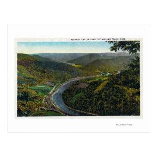 Vista aérea da fuga e do vale de Deerfield Cartão Postal