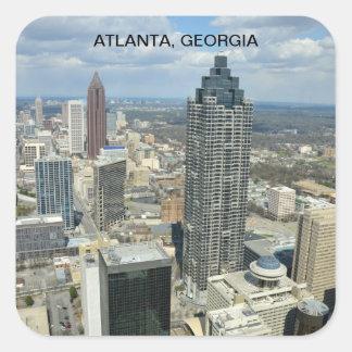 Vista aérea de Atlanta, Geórgia Adesivo Quadrado