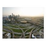 Vista aérea de Dallas do centro, Texas Cartões Postais