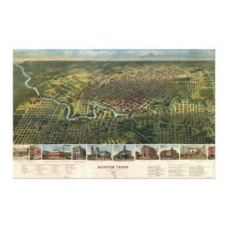 Vista aérea de Houston, Texas (1891)