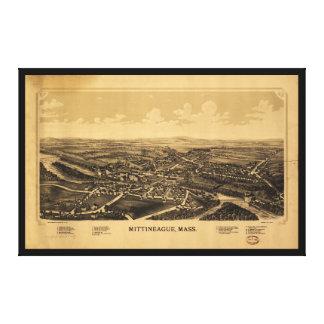 Vista aérea de Mittineague, Massachusetts (1889) Impressão Em Tela