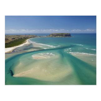 Vista aérea do estuário, da baía de Sawyer, Stanle Cartoes Postais