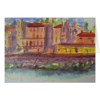 Vista através do Arno, Florença Cartão Comemorativo