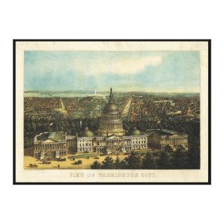 Vista da cidade de Washington (1871) Impressão Em Tela