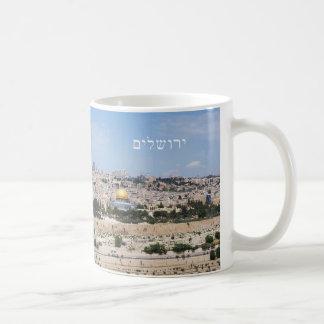 Vista da cidade velha de Jerusalem, Israel Caneca De Café
