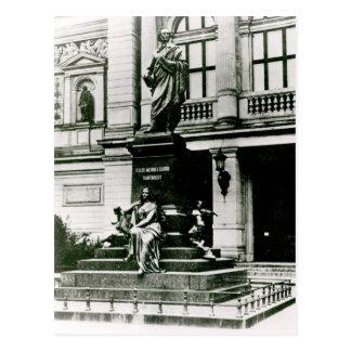 Vista da estátua de Mendelssohn Cartão Postal