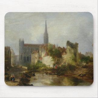Vista da igreja de St Peter, Caen, 1841 Mouse Pad