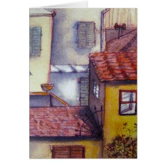Vista da janela do apartamento, Florença Cartão Comemorativo