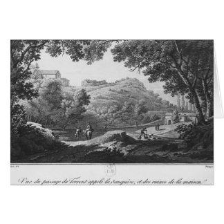 Vista da torrente conhecida como o La Sanguese Cartão Comemorativo
