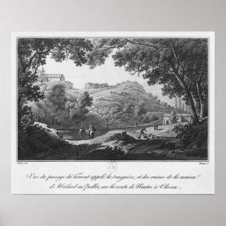 Vista da torrente conhecida como o La Sanguese Pôster
