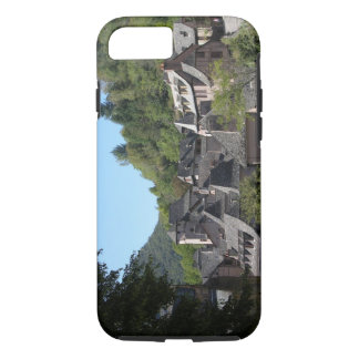 Vista da vila medieval (foto) capa iPhone 8/7