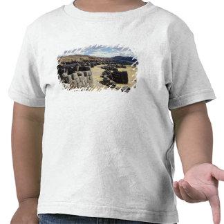 Vista das paredes de pedra camisetas