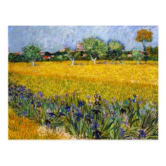 Vista de Arles com pintura de Vincent van Gogh das Cartão Postal