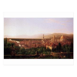 Vista de Florença de San Miniato pelo Cole de Cartão Postal