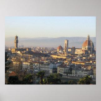 Vista de Florença Poster