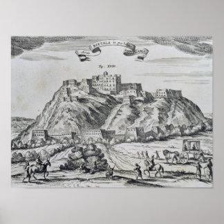 Vista de Lhasa, capital de Tibet Poster