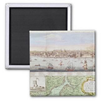 Vista de Lisboa, 1755 Ímã Quadrado