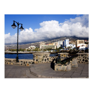 Vista de Puerto de la Cruz de Plaza de Europa Cartão Postal