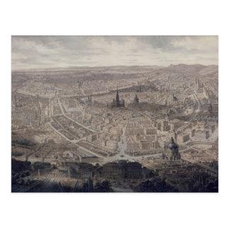 Vista de Viena, c.1860 Cartão Postal