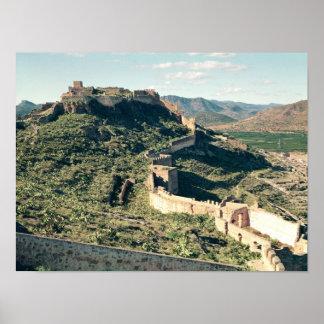 Vista do castelo, 8o-12o século impressão