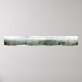 Vista do Empire State Building, em março de 2001 Poster