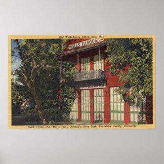 Vista do escritório velho de Wells Fargo (1855) Pôsteres