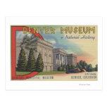 Vista do museu de Denver da história natural Cartão Postal