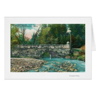Vista do Napa County BridgeNapa, CA Cartão Comemorativo