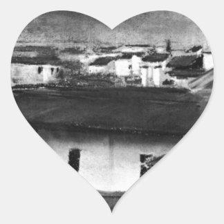Vista dos telhados de Florença por Max Liebermann Adesivo Coração