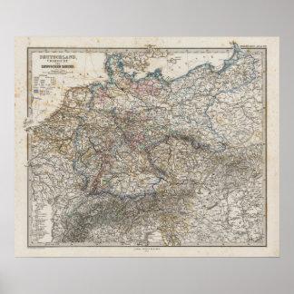 Vista geral do império alemão poster