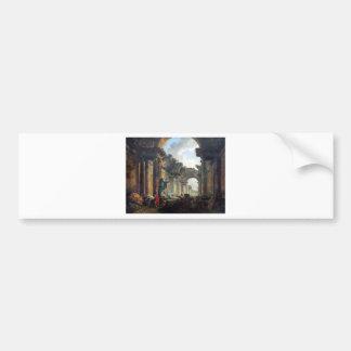 Vista imaginária da galeria grande do Louvre Adesivo Para Carro