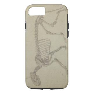 Vista lateral de um esqueleto do tigre, estudo capa iPhone 8/7