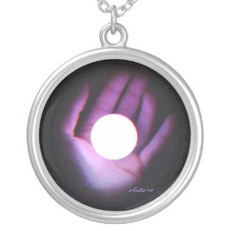 Vista místico colar banhado a prata