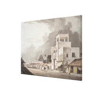 Vista na estrada de Chitpore, Calcutá, placa II de Impressão Em Tela Canvas