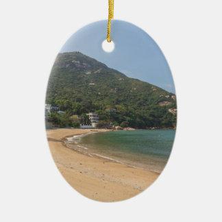 Vista panorâmica da ilha macilento de Sok Kwu Ornamento De Cerâmica Oval