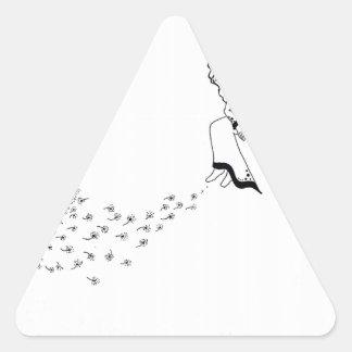 Vista para fora adesivo triangular