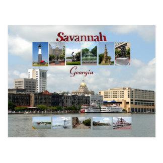Vistas do savana Geórgia Cartão Postal
