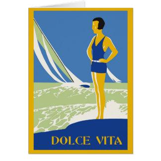 Vita de Dolce, verão do beira-mar do estilo do Cartão Comemorativo