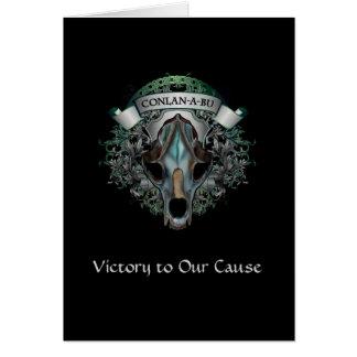 Vitória a nossa causa cartão