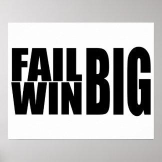 Vitória grande da falha grande pôsteres
